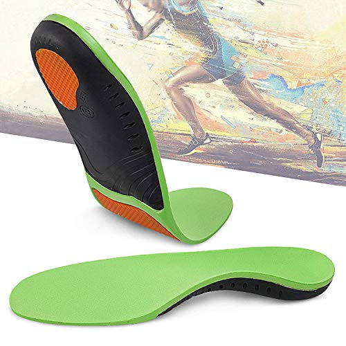 - Hyperspace Sports Insole Medical Grade Plantar Fasciitis Inserts Arch Support Shoe Inserts Professional Orthotic Inserts Doctor Recommends for Plantar Fasciitis High Arch Support Flat Insoles.Green S