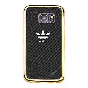 ADIDAS Logo TPU Soft Gold Frame Phone Case Simple Fashion ADIDAS Phone Case Snap On Samsung Galaxy S6 Edge