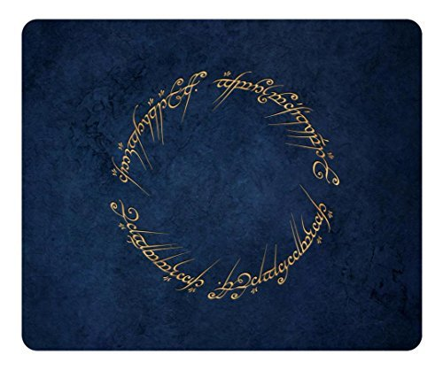 Personalized Rectangle Non-Slip Mousepad One Ring Inscription The Lord Of The Rings Customized Design Top Quality Water Resistent Oblong Soft Gaming Mouse Pads