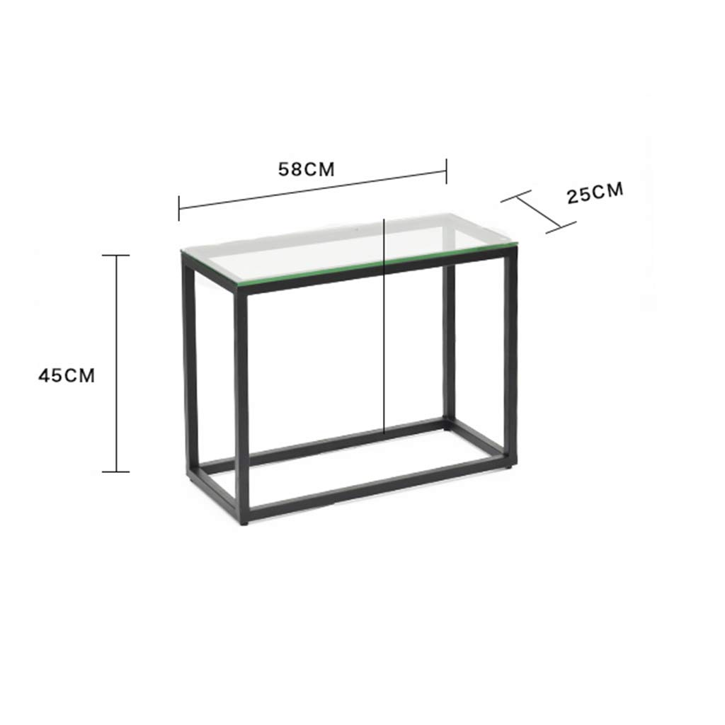 Smalle Sidetable 25 Cm.Amazon Com Perfect Furniture Sofa Side Table Glass