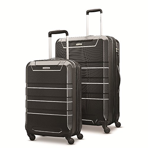 Samsonite Invoke 2 Piece Nested Hardside Set (20''/28''), Black, Only at Amazon by Samsonite