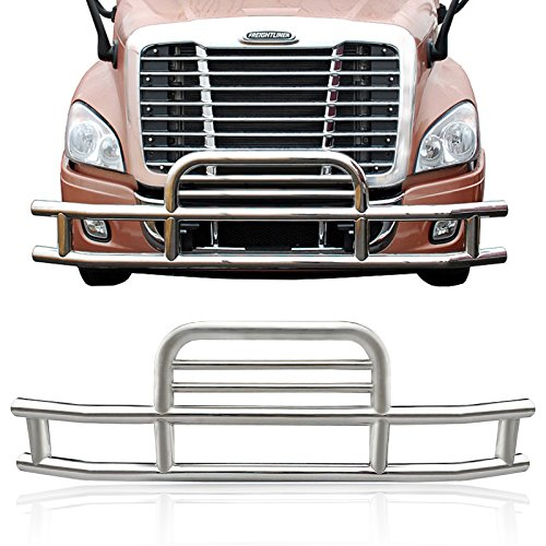 - Haitzu Deer Guard Grill Guard Fit Freightlienr Cascadia 2008-2017 Made of Heavy Duty Steel Grille Bumper with Mounting Kit