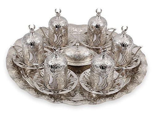 Handcraftideas Traditional Design Brass Cast Turkish Greek Armenian Arabic Coffee Set Espresso Set Tea Set for - Tea 203