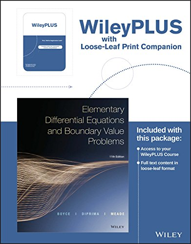 elementary differential equations and boundary value problems 11th edition pdf