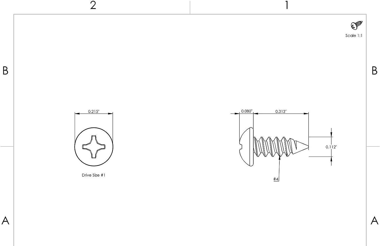 #4 x 5//16 Self Tapping Sheet Metal Screws Pan Head Stainless Steel 500 Pcs self Tapping Metal Screws self Tapping Screws for Metal