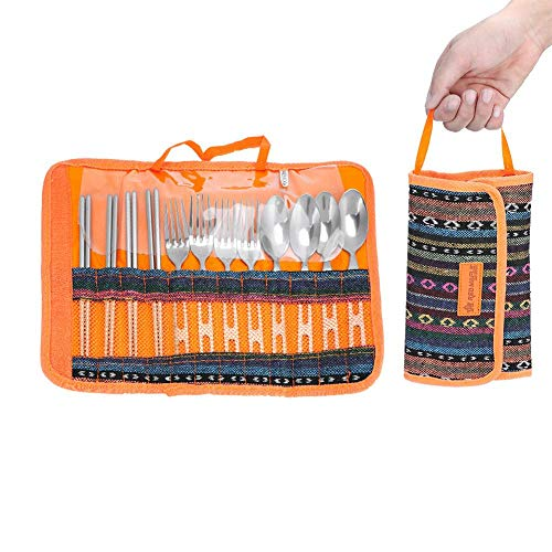 - T-best Cutlery Storage Bag,Cutlery Storage Case for Carrying Cutting Board, Rice Paddle,Tongs, Scissors, Knife, Spoon.