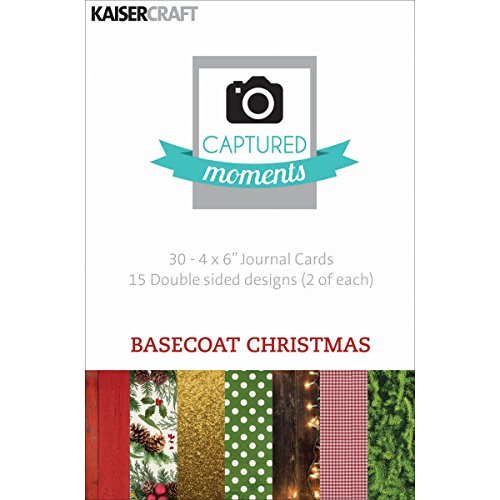kaisercraft-captured-moments-double-sided-cards-6-by-4-inch-basecoat-christmas-30-pack