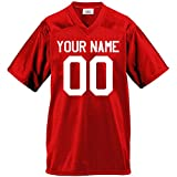 Custom Football Jersey for Youth and Adult you Design Online in Youth Small in Scarlet Red
