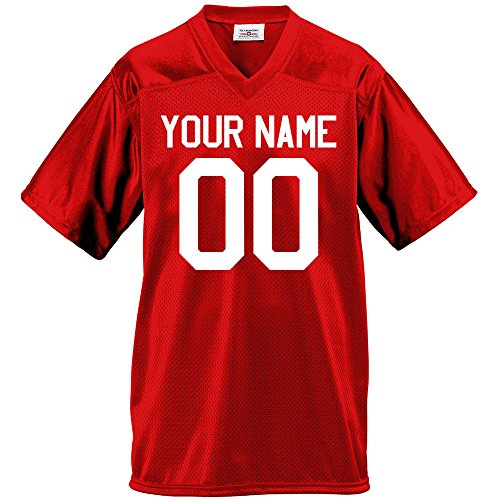 Custom Football Jersey for Youth and Adult you Design Online in Youth Small in Scarlet Red by Hardkor Sports