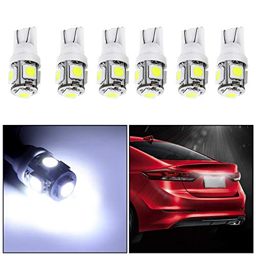 Lamp Rotating Mountaineers - cciyu License Plate Light, T10 W5W Wedge 168 194 LED Bulb 6000K Xenon White,6Pack