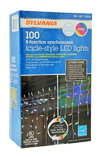 100 Ct Led Icicle Lights