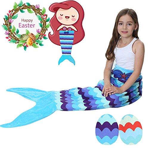 Camlinbo Mermaid Tail Blanket Girls Flannel Soft Warm