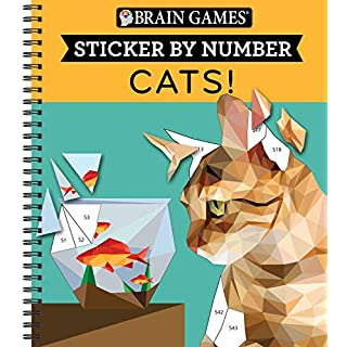 Brain Games - Sticker by Number: Cats! (Geometric Stickers)