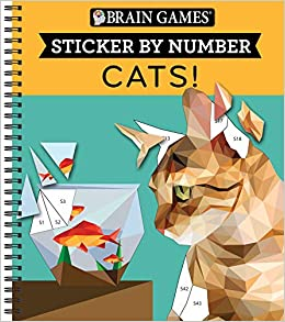 Brain Games Sticker By Number Cats Publications
