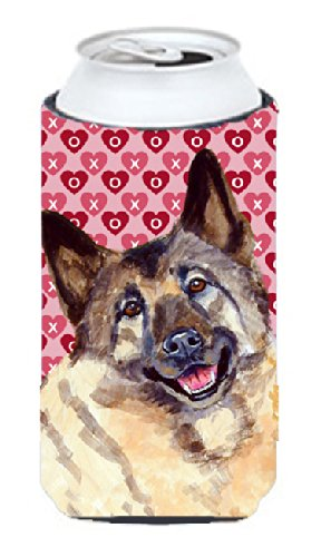 Camping & Hiking Norwegian Elkhound Hearts Love and Valentines Day Portrait Ultra Beverage Insulators for Slim cans LH9173MUK Outdoor Gear
