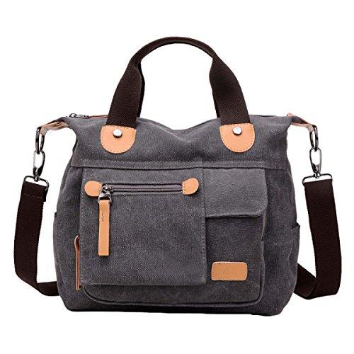Casual Multi-funcional Bolsa De Lona Hombro Messenger Bolsa De Moda Neutral Retro Simple Grey