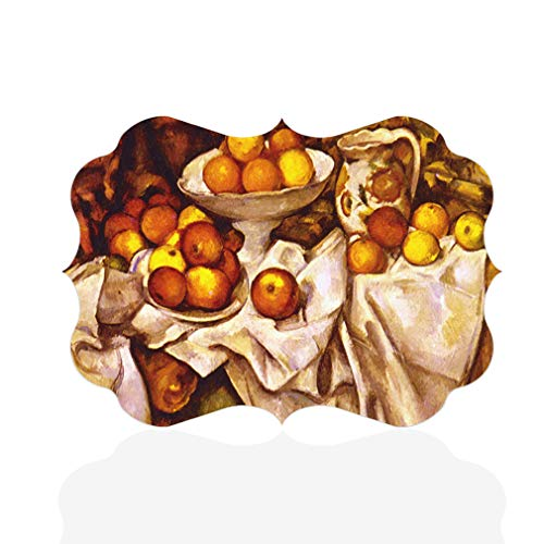 Apples Oranges And Cezanne - Sign Destination Aluminum Metal Wall Decor Cezanne Apples and Oranges Style A Horizontal Classical Image Photo Print Wall Art - Benelux Shape, 12