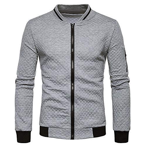 Fashion Casual Solid Mens's Cardigan Zipper Sweatshirt Jacket Coat OutwearLong ()