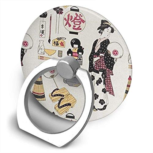 Riuiana Chinoiserie Palace Cell Phone Ring Holder,Finger Grip Stand Holder,360 Degrees Rotation,Circular Panel Compatible with iPhone,Samsung,Phone Case,etc