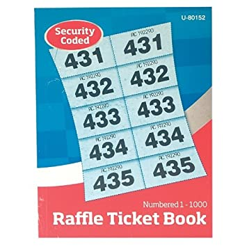 guilty gadgets raffle ticket cloakroom tickets 1 1000 numbered