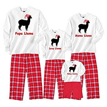 Personalized llama family matching christmas for Funny matching family christmas pajamas