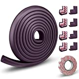 LinGear Very Long 16.4 Feet Thick Baby Proofing Corners Edge Protectors for Kids,Table Furniture Guards Proof,Soft Strips for Fireplace Desk Cupboard Non-Toxic[5 Meters Edge + 8 Corners]