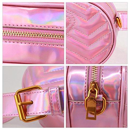 Handbag PU Pack Waist Bag Purse Bag Leather Women Pack 680 Waist Crossbody Pink Shoulder Bag Fanny Bum Candice Bag wqt1Bax5