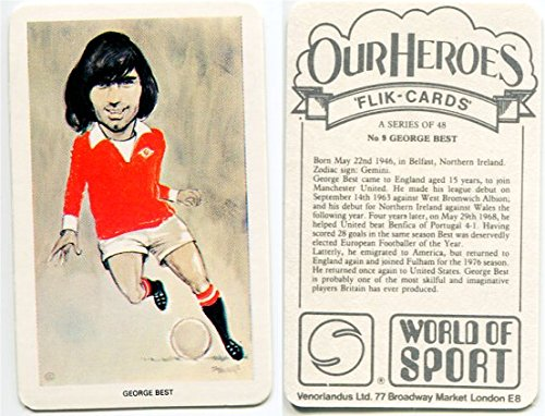 1979 Venorlandus World of Sport George Best Soccer Card #48 (George Best And Pele)
