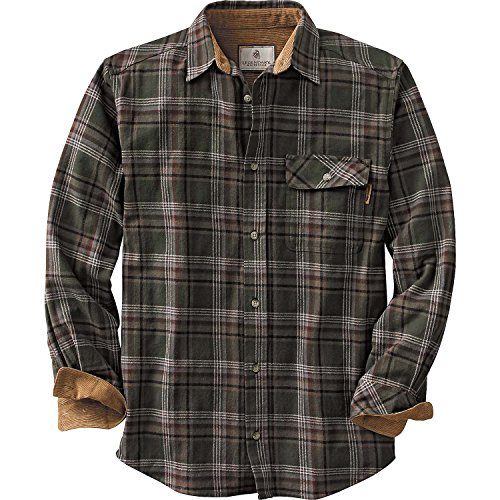 Legendary Whitetails Buck Camp Flannels Forest Green Plaid Small