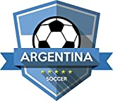 Argentina Flag National Soccer Team Badge Home Decal Vinyl Sticker 13'' X 12''