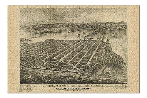 Coronado, California - (1880) - Panoramic Map (20x30 Premium 1000 Piece Jigsaw Puzzle, Made in USA!)
