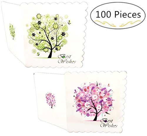 100 Pieces Blank Best Wishes Greeting Cards – Magnolora Spring & Autumn Themed Best Wishes Note Cards, Best for Your Life's Gratitude Moments - Christmas, Wedding, Birthday, Graduation, Baby Shower