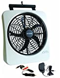 "O2COOL 10"" Rechargeable Energy Efficient Fan"
