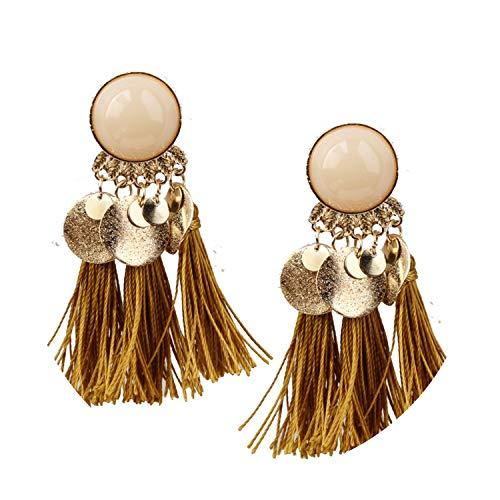 2018 Ethnic Bohemia Women Dangle Drop Earrings,yellow color