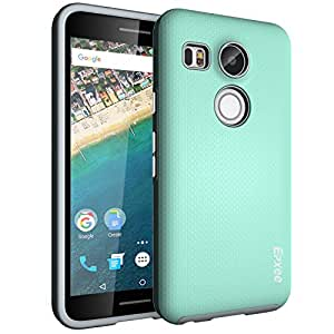 Nexus 5X Case, Epxee ARMOR Defender Heavy Duty Protection Impact Resistant Shockproof Slim Fit TPU Plastic Dual Layer Protective Case Cover for LG Nexus 5X (Mint)