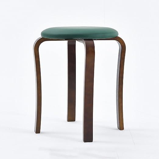 JH& Taburetes altos de madera maciza, taburetes simples de mesa ...