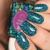 Blue Tourmaline - glitter holographic nail polish by Cupcake Polish