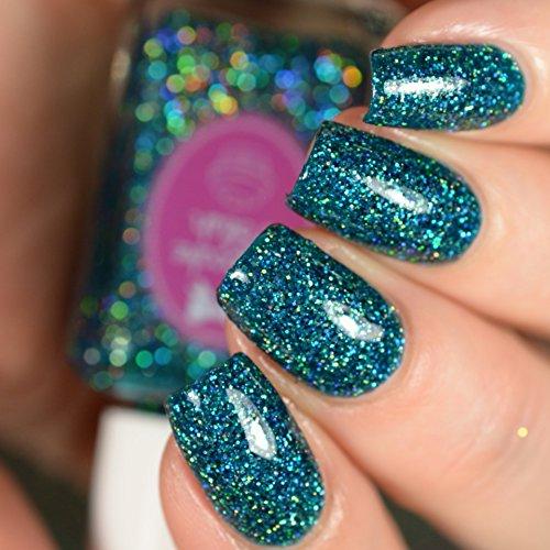 Tourmaline Glitter - Blue Tourmaline - glitter holographic nail polish by Cupcake Polish