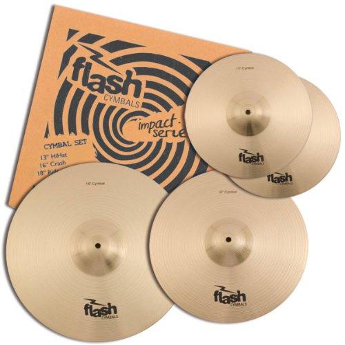 Flash Impact Series 368 Schlagzeug Becken Set (Drum Cymbals, 13