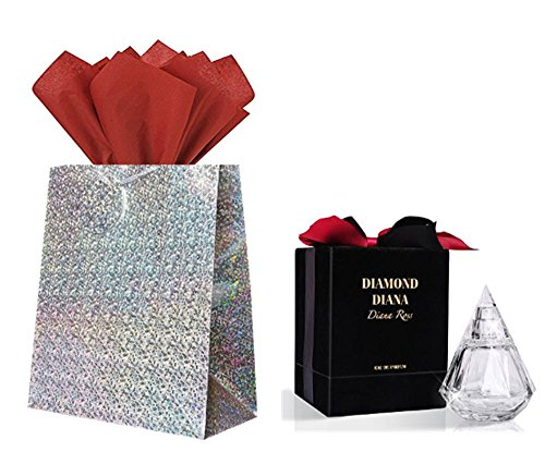 Diamond Diana Diana Ross EDP Eau de Parfum 3.4 OZ , Holographic Gift Bag & Tissue Paper Gift Set Diamonds Edp Perfume