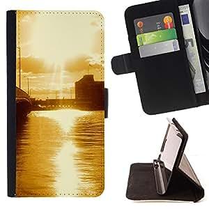 BullDog Case - FOR/Samsung Galaxy S4 IV I9500 / - / Nature Beautiful Forrest Green 67 /- Monedero de cuero de la PU Llevar cubierta de la caja con el ID Credit Card Slots Flip funda de cuer