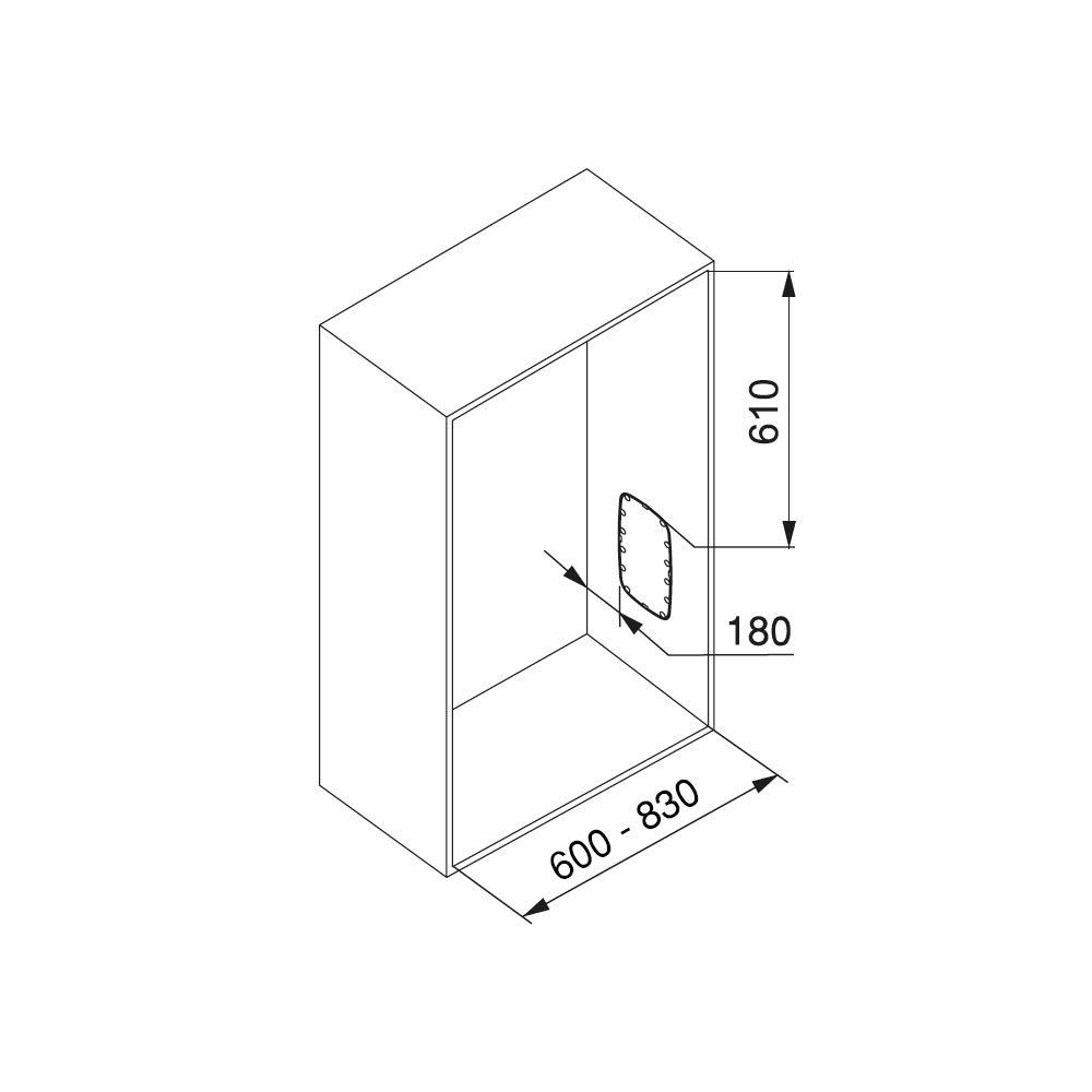 EMUCA Barra, Perchero basculante, Colgador abatible para Armario, Anchura Regulable 600-830mm, Blanco