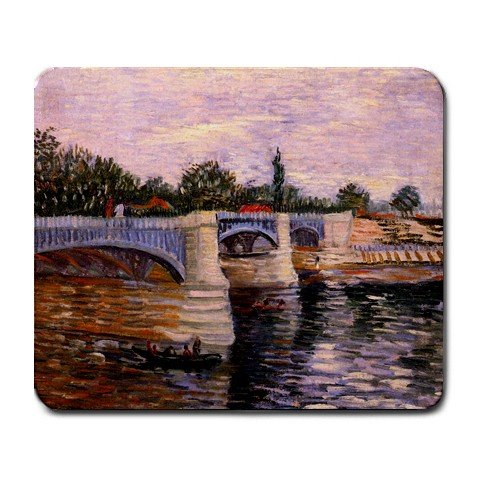 (The Seine with the Pont del Grande Jette By Vincent Van Gogh Mouse Pad)