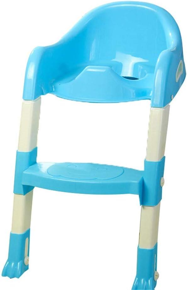 Baby Child Toddler Potty Asiento de inodoro con orinal con escalera de taburete para niños y bebés Asiento con asiento de inodoro para niños portátil Cómodo Seguro Robusto Excelente Entrenador con ori: