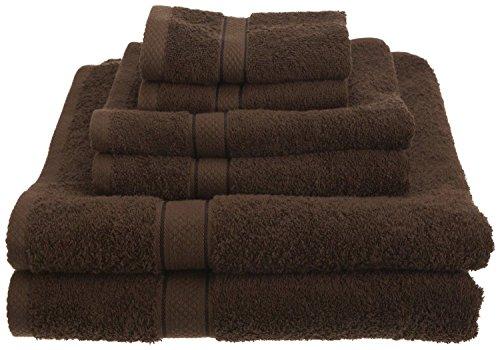 ptian Cotton 725 Gram Bath Towel Towels Set Different Color(Cocoa) ()