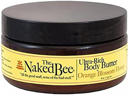 The Naked Bee Ultra-Rich Body Butter, 8 Ounce, Orange Blossom Honey
