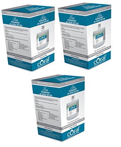 3 X LG LT500P 5231JA2002A Kenmore 46-9890 WF-290 Compatible Coral Filter