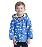 Hatley Little Boys' Printed Raincoats, Color Changing Dinosaur Menagerie, 3
