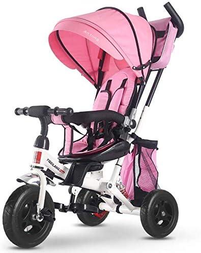Triciclo de niños Asiento giratorio de la bicicleta Bebé Empuje ...