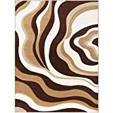 Home Dynamix Sumatra Okeeffe Area Rug | Contemporary Dining Room Rug | Modern Abstract Patterns | Warm Homely Tones | Brown 7'8″ x10'2 For Sale